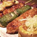 串焼処 鶏太 - 串盛り(串5本)740円