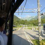 8715148 - 扇沢、トロリーバス出発