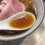 中華そば 四つ葉 - 醤油と鶏のジュワッとしたスープ(四つ葉そば)