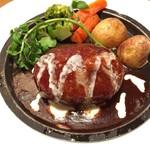 洋食 キッチン大宮 - デミグラスハンバーグ!