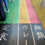 NHK放送技術研究所 食堂 - レーンに従って進む