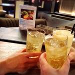 お酒の美術館 京都三条烏丸レトロパブ - 乾杯〜〜( ´∀` )/▽☆▽ヽ(′ ∀`)