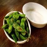 87165972 - 枝豆のオリーブオイル炒め