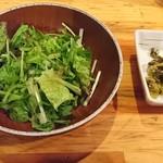 魚串さくらさく - サラダと漬物