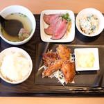 AKASAKA Tan伍 - TNGランチ 1000円 の桜姫鶏びから揚げ チキン南蛮ソース