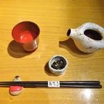 87166994 - テーブルセッティング、お酒(半合)
