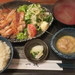 一誠 - 地鶏もも焼き定食