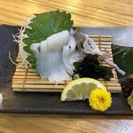 魚輝水産 - やりイカ造り