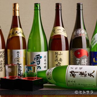 秋田の地酒を中心とした種類豊富なお酒