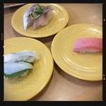 かっぱ寿司 - えんがわ・鯵・中トロ