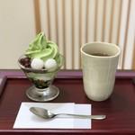 香嘉園 - ミニ抹茶パフェ