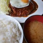 富士喜 - ハンバーグ定食