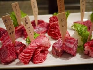 みやび 六本木店 - ディナーのお肉盛りあわせ