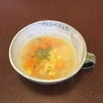 ジャム cafe 可鈴 - とうもろこしと野菜のスープ