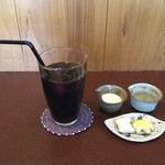 ジャム cafe 可鈴 - 食後のアイスコーヒー