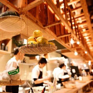 目の前で揚げたての天ぷら