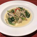 ロカーレ アーシャ  - 牡蠣のクリームパスタ風 スピナッチャ