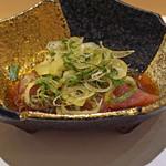 鮨 青海 - 鰹 背と腹 ポン酢で