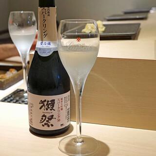 鮨 青海 - 獺祭 純米大吟醸 スパークリング50