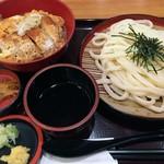 杵屋 - 料理写真:「かつ丼定食」ざるうどんで。880円也+税。