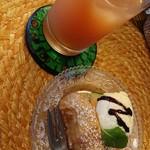 ワルン ジャムカレット - セットのフルーツジュースとピサンゴレン
