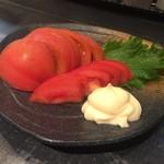和鶏屋 - H.30.4.24.夜 冷やしトマト 350円