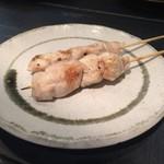 和鶏屋 - H.30.4.24.夜 塩水漬け胸肉串焼き @140円