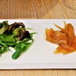 Organic Cafe あたたかなお皿 - メインランチ(有機野菜のサラダ)