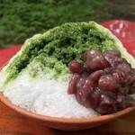 さるや - 鴨の氷室の氷 抹茶小豆