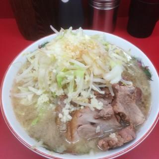 ラーメン二郎 - 料理写真:小豚ラーメン 830円 ※ニンニク少し、ヤサイ、カラメ
