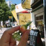 みのりんご - お会計後に渡された、りんご飴。この飴がとてもおいしくて、ちょっとしたこの気遣いが嬉しい。