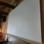 カフェ エニシ - 映写用スクリーン