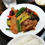 中華料理馬場 - 料理写真:牛肉と野菜の四川風炒め‼