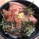 87207236 - 先ずは刺身と海苔を載せて丼として1膳(^^)v