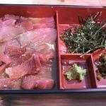 87207244 - お刺身と山葵、海苔は別の器で提供されます!