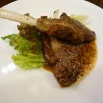 トラットリア ノイ - 子羊のソテーマスタードソース