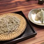 蕎麦むらた - 細びき盛りそばと野菜の天ぷら