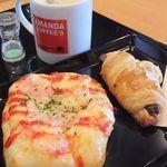 アマンダコーヒーズ - 「ティーラテ(380円)」。パンと一緒に。