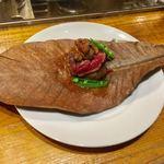 富士屋本店 - 北海道牛フィレとウニの軽い炙り 1,650円