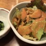 天ぷら 神田 - ランチのサラダ