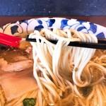 麺処 清水 - 山椒の塩そば麺リフト