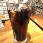 和牛専門店生ホルモン ちえちゃん - 食後のアイスコーヒー
