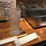 和牛専門店生ホルモン ちえちゃん - 水はジョッキで!
