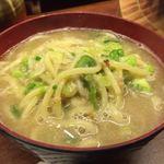 博多串焼き・野菜巻き工房  渋谷宮益坂のごりょんさん - 焼き餃子のスープで〆の麺