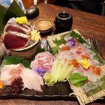 個室×九州料理 宝山邸 - 海鮮五種盛り合わせ