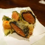 個室×九州料理 宝山邸 - プチプチ明太子の二色天ぷら