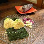 個室×九州料理 宝山邸 - 荒削り鰹の燻製おにぎり