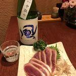 87225917 - 鴨肉と日本酒