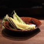 炭火焼鳥とうまい酒 立葵 - ヤングコーン