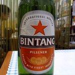 cafeロジウラのマタハリ春光乍洩 - ビールが無くなったので追加です。 ビンタンビール600円です。 インドネシア産のピルスナービールです。